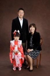 七五三家族写真